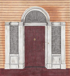 click here to view larger image of Adam Door (hand painted canvases)