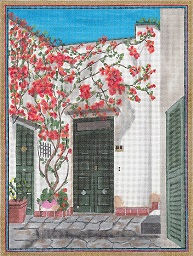 click here to view larger image of Green Door In Ponza, Italy (hand painted canvases)
