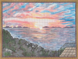 click here to view larger image of Sunset Off Ponza, Italy (hand painted canvases)