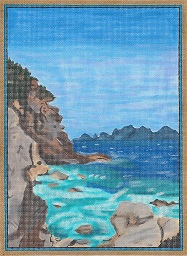 click here to view larger image of Seacoast Off Ponza, Italy (hand painted canvases)