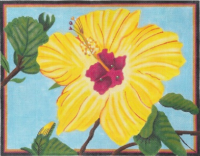 click here to view larger image of Yellow Hibiscus (hand painted canvases)