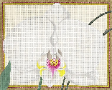 click here to view larger image of White Orchid (hand painted canvases)