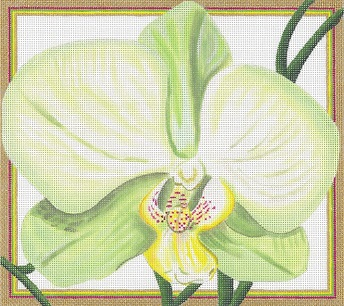 click here to view larger image of Chartreuse Orchid (hand painted canvases)