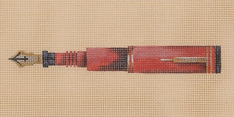 click here to view larger image of Rust Pen (hand painted canvases)
