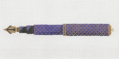 click here to view larger image of Purple And Gold Pen (hand painted canvases)