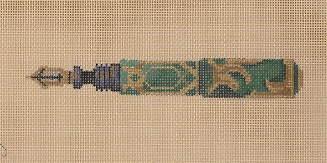 click here to view larger image of Green And Gold Pen (hand painted canvases)