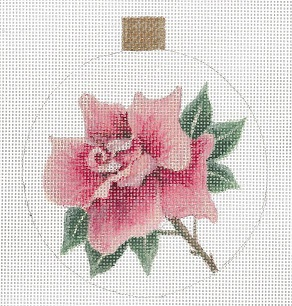 click here to view larger image of Rose Ornament (hand painted canvases)