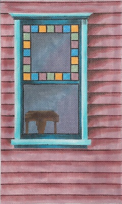 click here to view larger image of Stained-Glass Window (hand painted canvases)