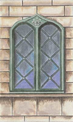 click here to view larger image of Mansion Window (hand painted canvases)