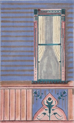 click here to view larger image of Victorian Painted Lady Window (hand painted canvases)