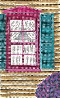 click here to view larger image of Red Window (hand painted canvases)