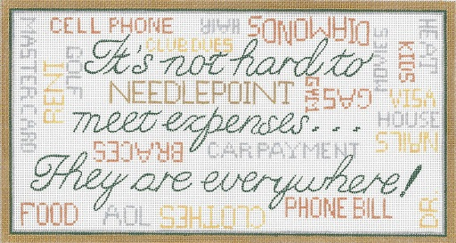 click here to view larger image of It's Not Hard To Meet Expenses (hand painted canvases)