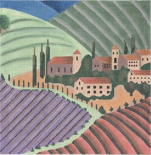 click here to view larger image of Lavender Village - 18 Count (hand painted canvases)