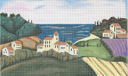 click here to view larger image of Tuscan Cove - 13 Count (hand painted canvases)