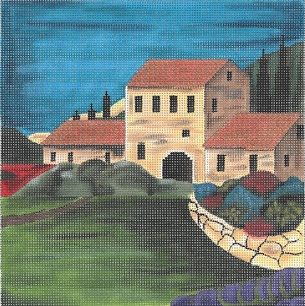 click here to view larger image of Seaside Villa - 13 Count (hand painted canvases)