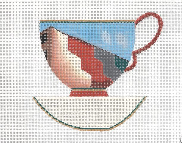 click here to view larger image of SOHO Tea Cup (hand painted canvases)