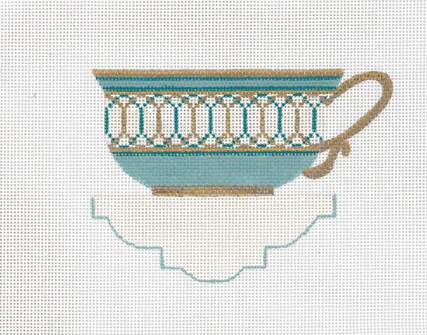 click here to view larger image of Seafoam Tea Cup (hand painted canvases)