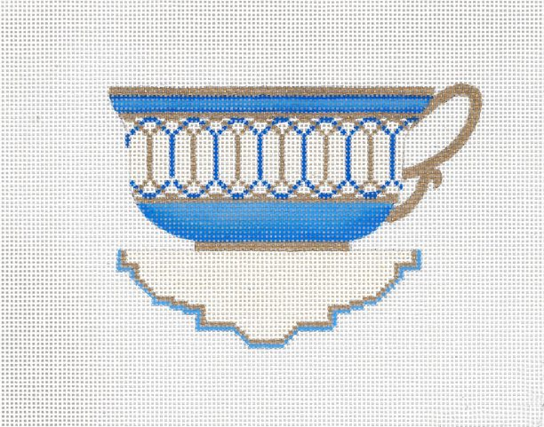 click here to view larger image of Blue Tea Cup (hand painted canvases)
