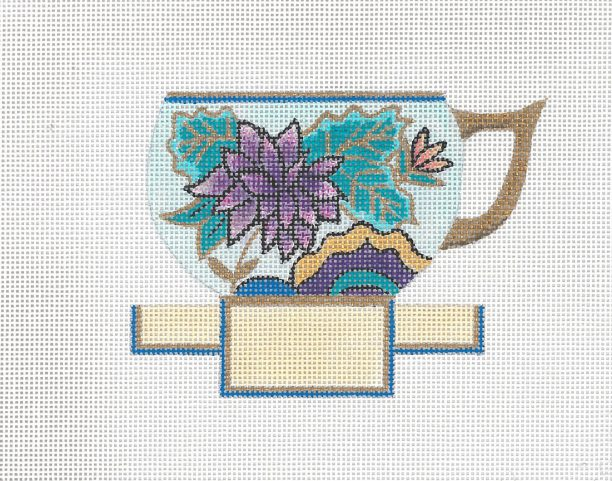 click here to view larger image of Peony Tea Cup (hand painted canvases)