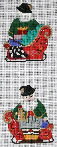 click here to view larger image of Mini Swiss Alpine Santa (hand painted canvases)