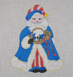 click here to view larger image of Americana Santa (hand painted canvases)