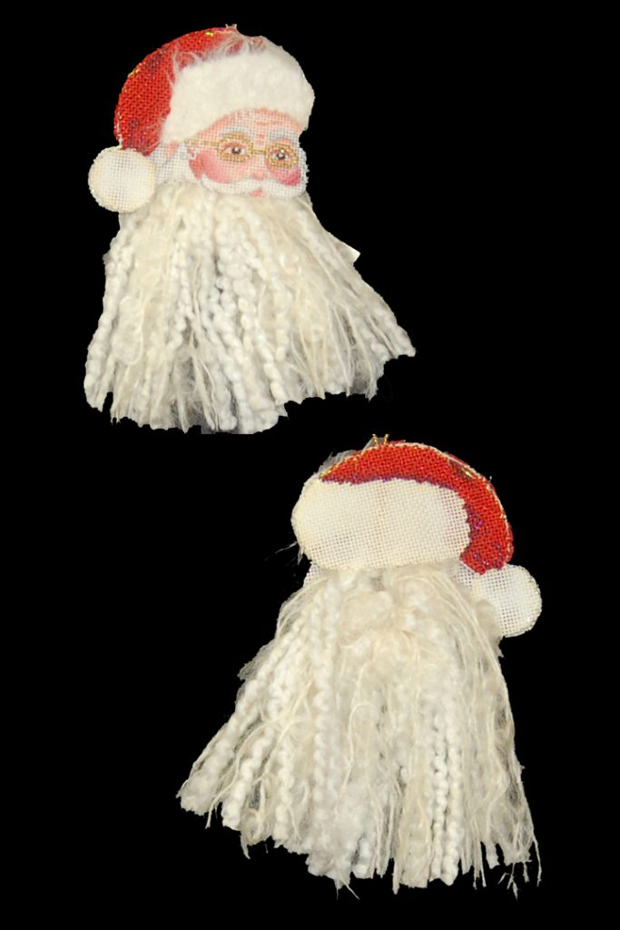 click here to view larger image of Santa Face Tassel-Top (hand painted canvases)