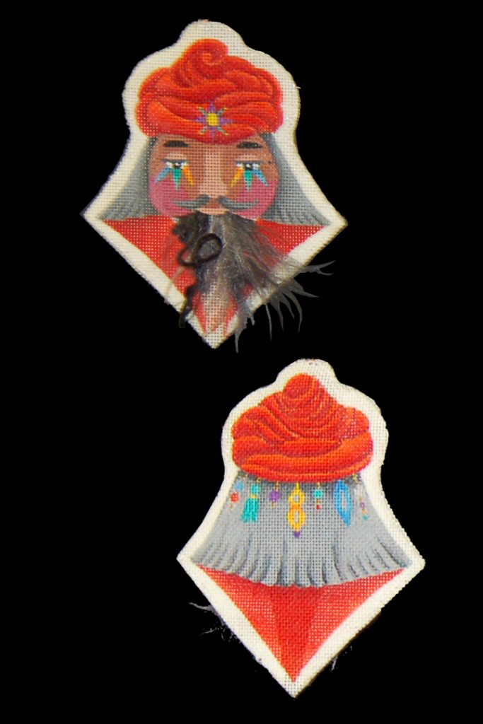 click here to view larger image of Bearded Ornament - Turban Magi (hand painted canvases)