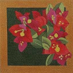 click here to view larger image of Paradise In Red Flowers - Bougainvillea (hand painted canvases)