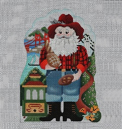 click here to view larger image of City Santa Series - San Francisco, CA - 24 Count (hand painted canvases)