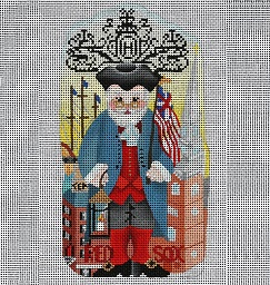 click here to view larger image of City Santa Series - Boston, MA - Front Only (hand painted canvases)