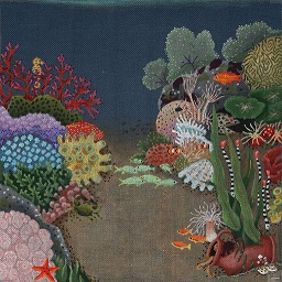 click here to view larger image of Undersea Garden (hand painted canvases)