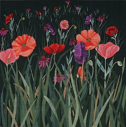 click here to view larger image of Red Poppy Meadow (hand painted canvases)