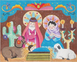 click here to view larger image of Fiesta Creche I (hand painted canvases)