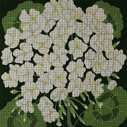 click here to view larger image of Giant White Geraniums (hand painted canvases)
