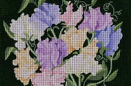 click here to view larger image of Giant Sweet Peas (hand painted canvases)
