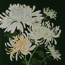 click here to view larger image of Giant Spider Mums (hand painted canvases)