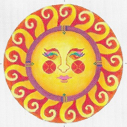 click here to view larger image of Spring Florido Fiesta Sun (hand painted canvases)