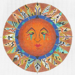 click here to view larger image of Autumn Harvest Sun (hand painted canvases)