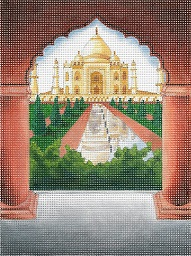 click here to view larger image of Windows On The World - Taj Mahal (hand painted canvases)