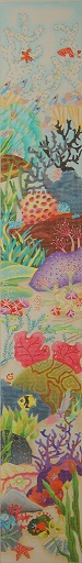 click here to view larger image of Undersea Water Garden Bell Pull (hand painted canvases)