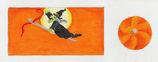 click here to view larger image of Stitcher's Witch Pin Cushion (hand painted canvases)
