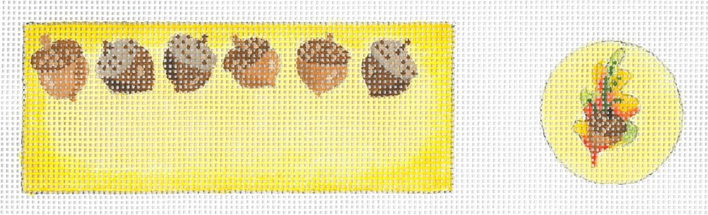 click here to view larger image of Acorns Pin Cushion (hand painted canvases)