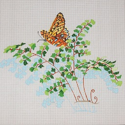 click here to view larger image of Maidenhair Fern (hand painted canvases)