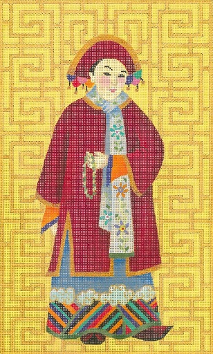 click here to view larger image of Chinese Lady With Beads (hand painted canvases)
