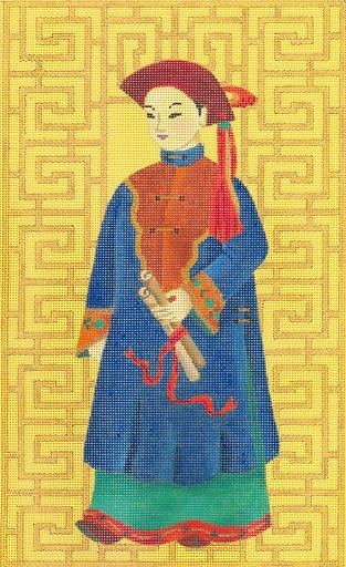 click here to view larger image of Chinese Man With Scroll (hand painted canvases)
