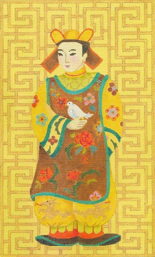 click here to view larger image of Chinese Man With Bird (hand painted canvases)