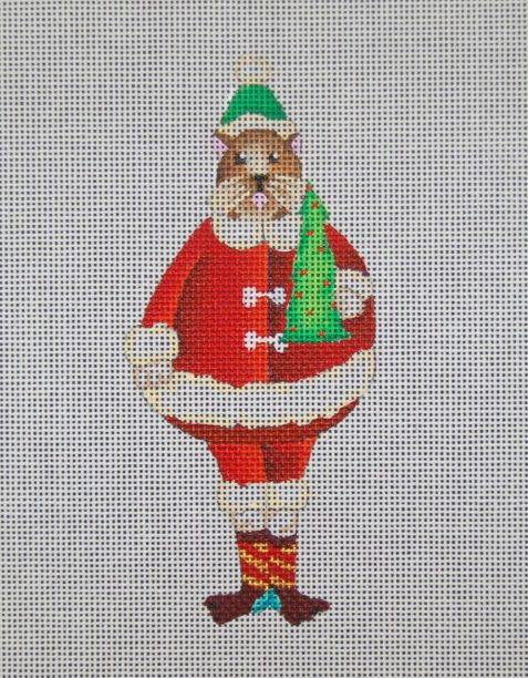 click here to view larger image of A Santa Cat With Tree (hand painted canvases)