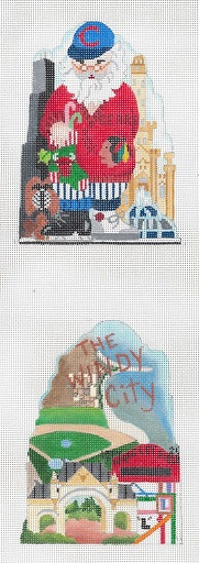 click here to view larger image of City Santa Series - Chicago, IL - 18 Count (hand painted canvases)