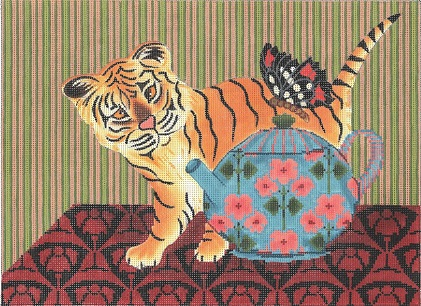 click here to view larger image of Baby Tiger And Butterfly (hand painted canvases)