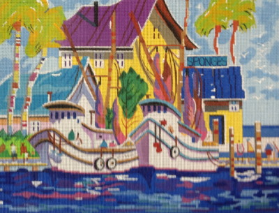 click here to view larger image of Sponge Docks (hand painted canvases)